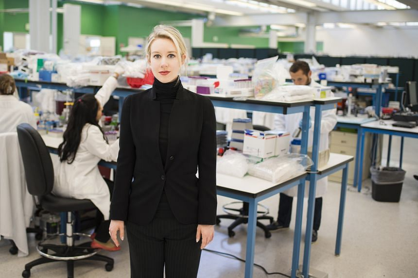 With her black turtleneck sweaters, Elizabeth Holmes (above), founder of Theranos, cultivated the perception that she was the next Steve Jobs.