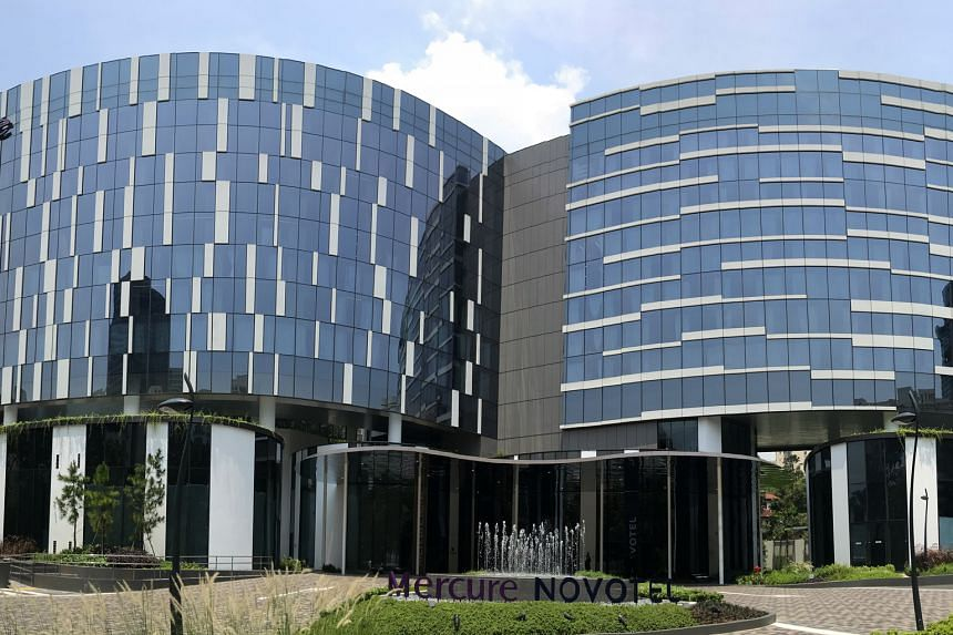 The Mercure and Novotel hotels in Stevens Road. Property developer Oxley Holdings yesterday terminated a letter of intent to sell the hotels to Gracious Land for $950 million with immediate effect, as a subsequent deposit of $38 million was not made