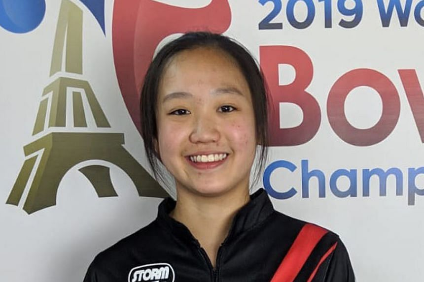 Arianne Tay, 14, beat many older rivals to win the girls' singles at the first world junior bowling championships.