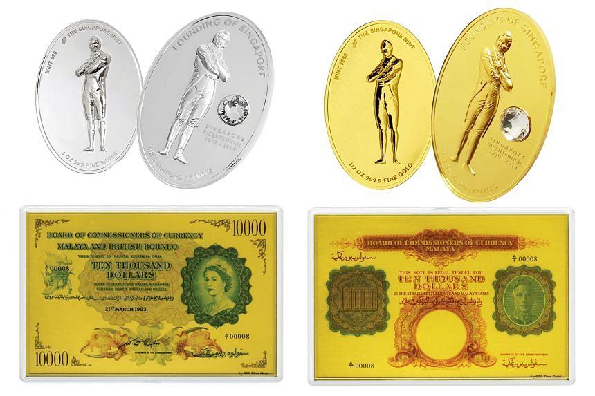 Bicentennial-themed items at coin fair