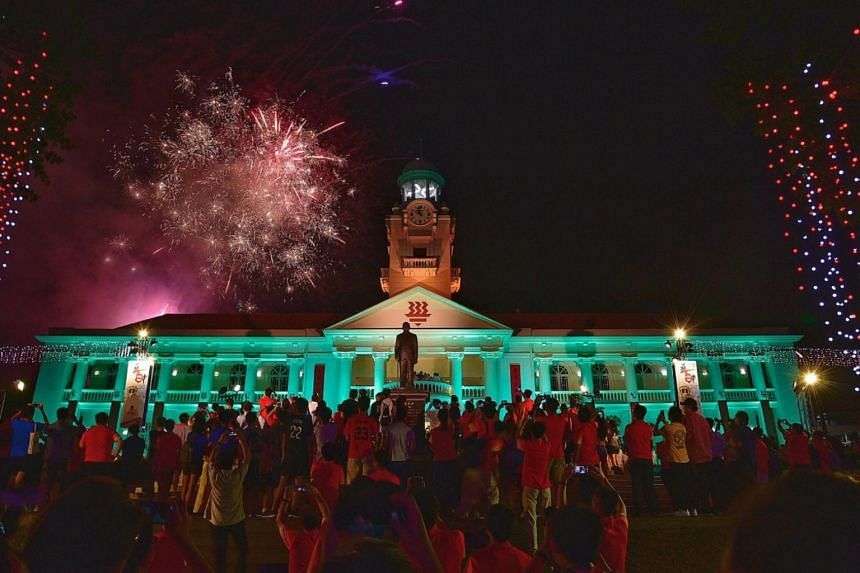 More than 12,000 alumni, staff and students of Hwa Chong Institution turned out in force to celebrate the school's 100th anniversary