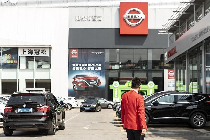 A Nissan dealership in Shanghai, China. Sources say Nissan will not release major new models in China, the world's biggest car market, through 2020. Nissan chief executive Hiroto Saikawa is reportedly prioritising profitability over sales volume, unl