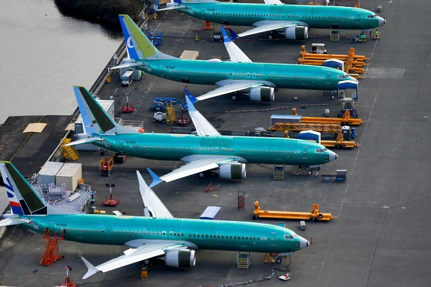 Boeing 737 Max airplanes parked at the Boeing Factory in Renton, Washington on March 21, 2019. Garuda's cancellation is thought to be the first formal cancellation for the model.