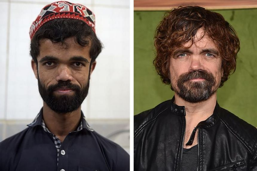 Not only are Pakistani waiter Rozi Khan and actor Peter Dinklage's faces strikingly similar, they are also the same height at around 135cm.