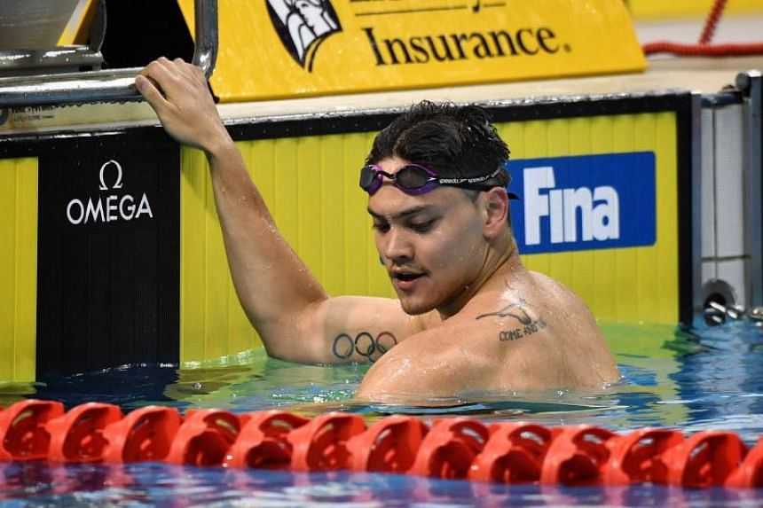 Singapore's Joseph Schooling in action at the men's 100m butterfly super final at the OCBC Aquatic Centre, on March 22, 2019.
