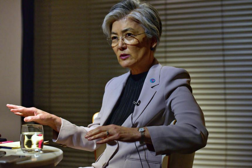 South Korean Foreign Minister Kang Kyung-wha said diplomatic relations with Japan should be taken into consideration before the proposal is adopted.