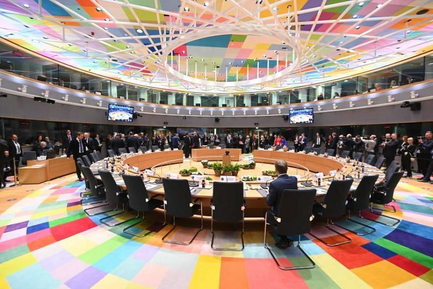 With just a week left until Britain is due to quit the European Union, the bloc's leaders scrapped planned talks on Chinese trade and plunged into six hours of talks through the evening on March 21, 2019.