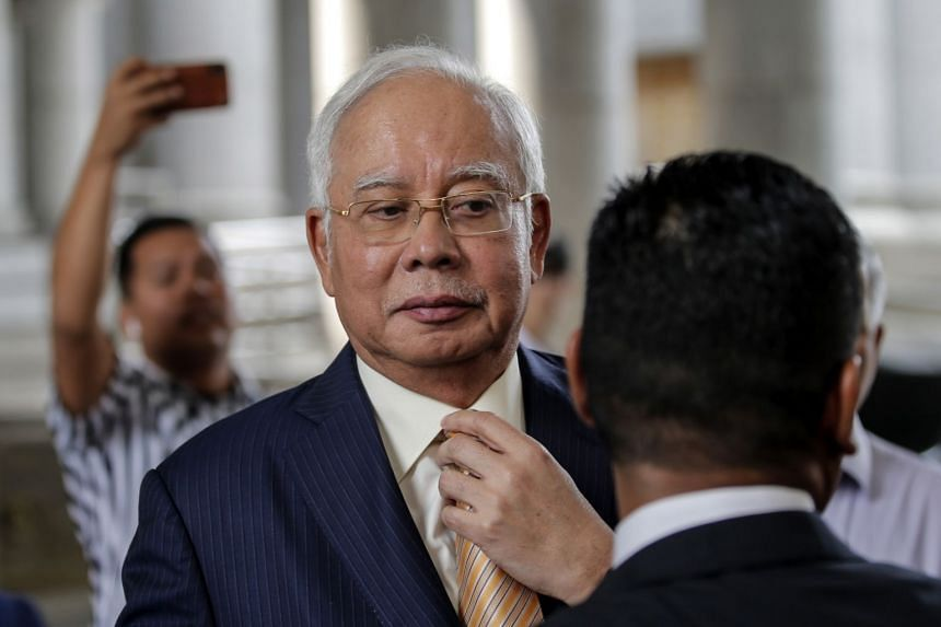 Former Malaysian Prime Minister Najib Razak leaving the High Court in Putrajaya, Malaysia, on March 21, 2019.