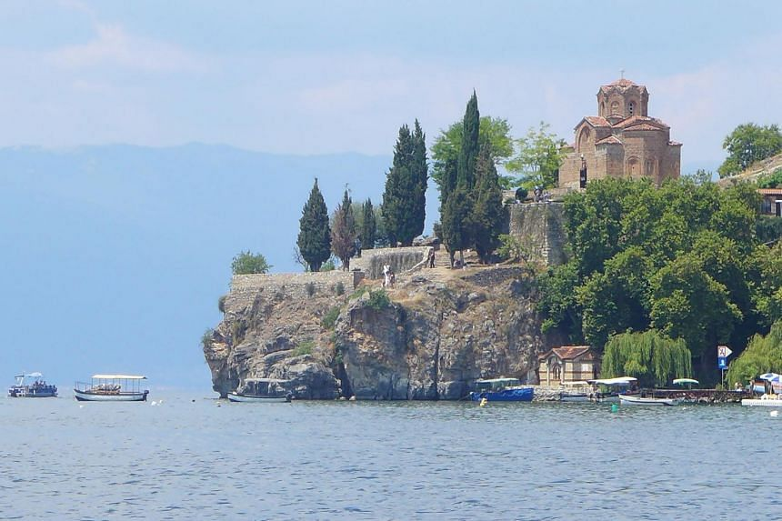 Lake Ohrid in North Macedonia.