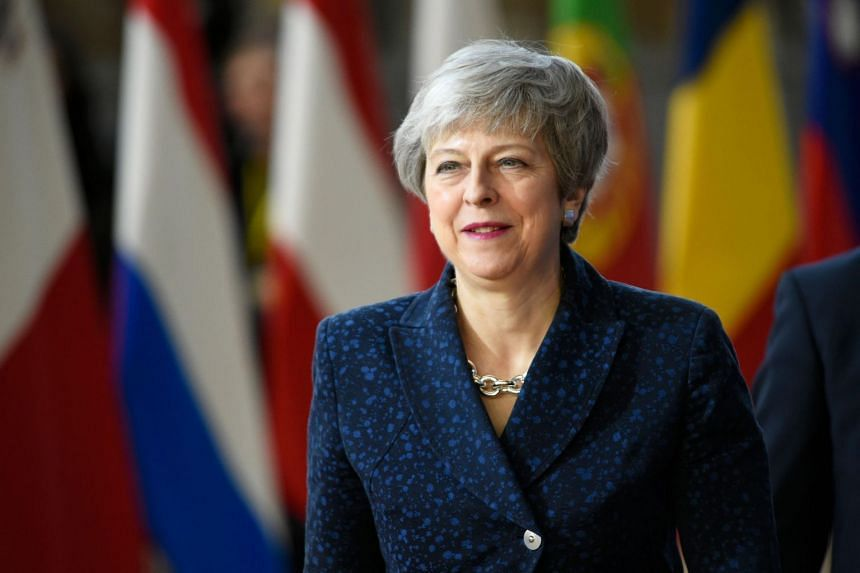 Britain's Prime Minister Theresa May arrives in Brussels on the first day of an EU summit focused on Brexit, on March 21, 2019.