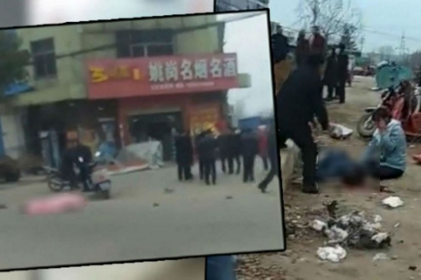 Seven other people were injured and were in hospital, said state television.