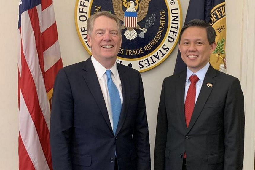 Minister for Trade and Industry Chan Chun Sing, who was on an introductory visit to Washington DC, met US Trade Representative Robert Lighthizer.
