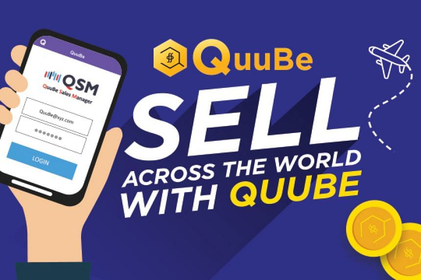 Asia's first e-marketplace using digital currency, Q*coin. PHOTO: QUUBE