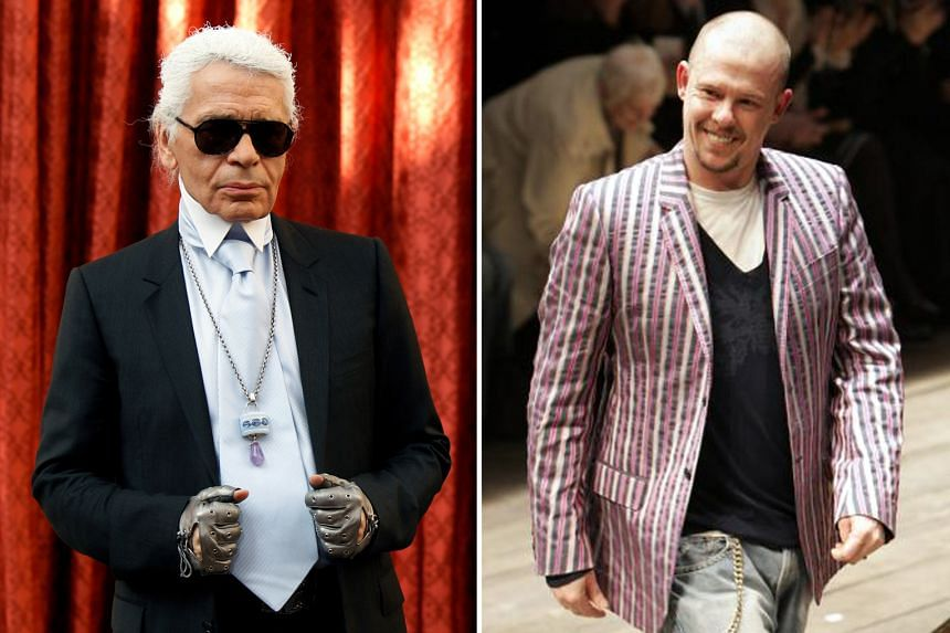 Karl Lagerfeld (left), former head of Chanel and Fendi, died last month, while British designer Lee Alexander McQueen (right) died in 2010.