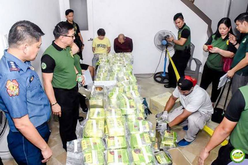 The methamphetamine haul was seized at Ayala Alabang Village, a gated community in Muntinlupa city, and at a nearby mall. Three Chinese nationals and their interpreter were arrested in separate raids.