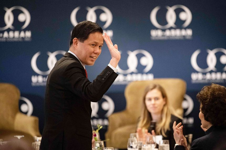 "Singapore's Trade and Industry Minister Chan Chun Sing arriving at the event organised by the US-Asean Business Council in Washington on Wednesday. On the RCEP, he said: ""The gaps are narrowing and we have a fair chance of getting it done by this yea"