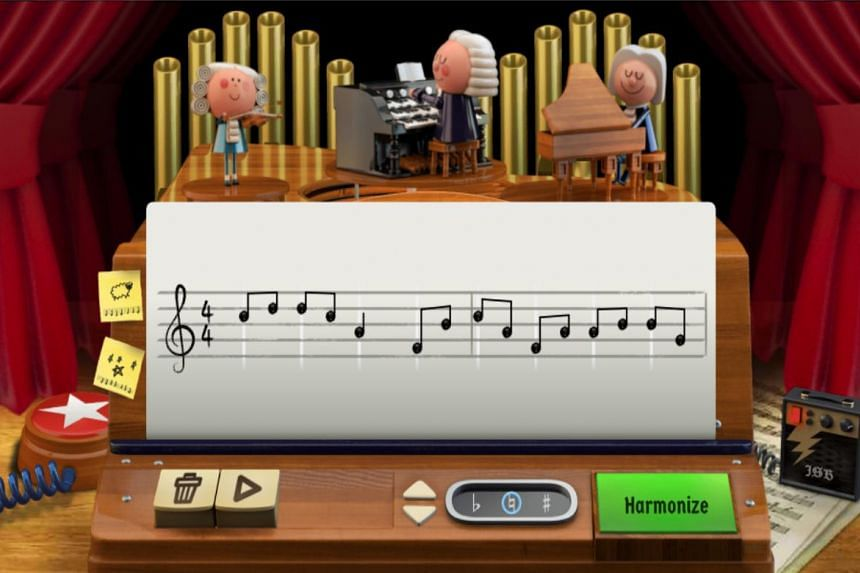 """Google celebrated the birth anniversary of Bach, among the world's most recognised musicians, with a Google Doodle that uses machine learning to """"harmonise the custom melody into Bach's signature music style""""."""