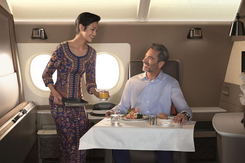 """Singapore Airlines' customer service standards are symbolised by the """"Singapore Girl"""", a representation of the airline's female cabin crew who don a distinctive sarong kebaya uniform designed by Parisian couturier Pierre Balmain."""