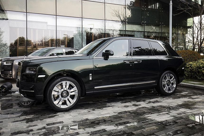 The new Rolls-Royce Cullinan sport utility vehicle is expected to drive sales in China.