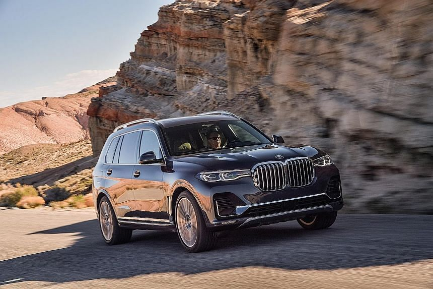 Measuring nearly 5.2m long by 2m wide and standing just over 1.8m tall, the BMW X7 is the biggest BMW. The BMW X7 offers plenty of room in the first two rows, especially in six-seater form, while the third row does not offer as much legroom as a prop