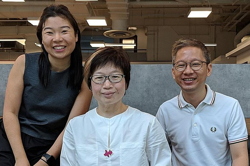 From left: Writers Melissa Sim, Tan Hsueh Yun and Boon Chan.