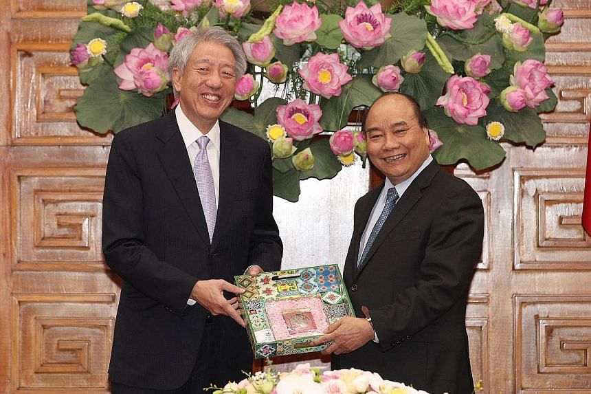 "Mr Teo Chee Hean, in his Facebook post, said he ""had a good and substantive discussion with PM Nguyen Xuan Phuc"", and that ""PM Phuc even spent some time studying economics at NUS in the early 1990s""."