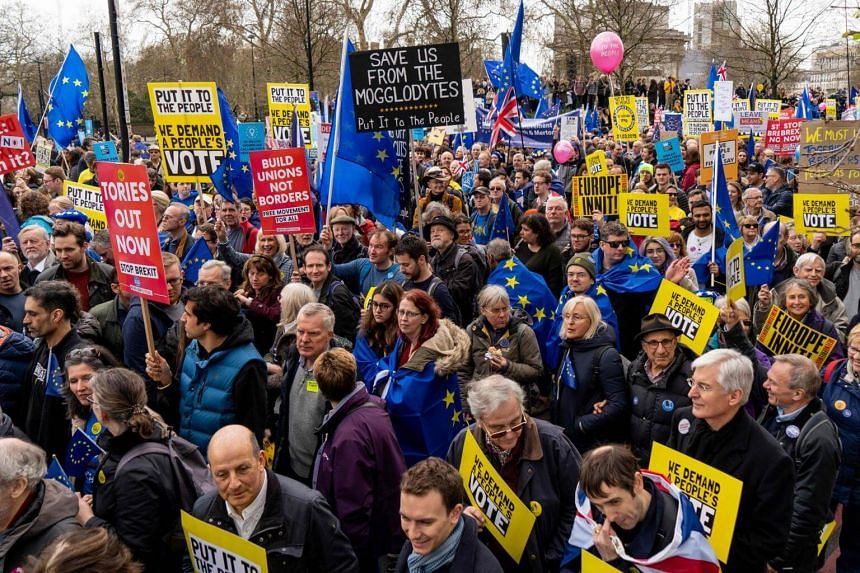 Image result for brexit march london