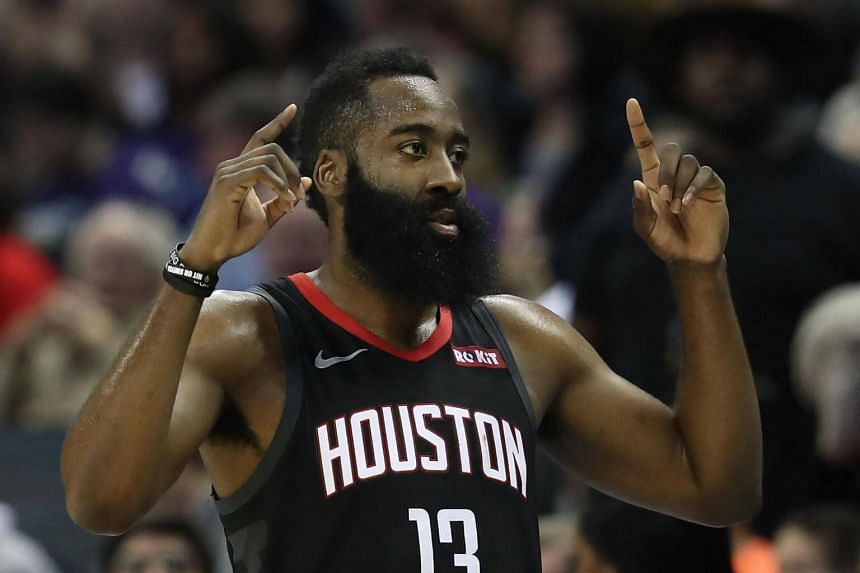 f188305955c5 NBA  James Harden equals career high 61 points in Rockets  win over Spurs.
