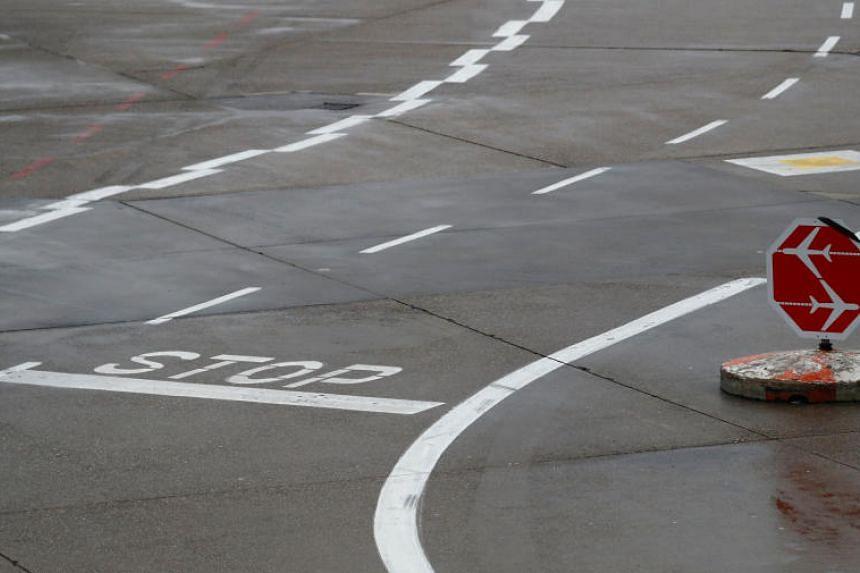 Air traffic was halted from around 5.15 p.m. until 5.45 p.m.