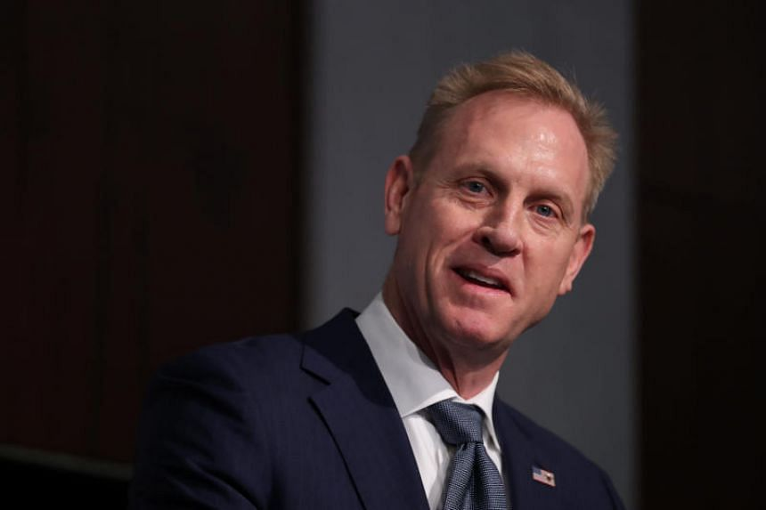 US Acting Defense Secretary Patrick Shanahan briefed President Donald Trump as he was travelling to Florida on Air Force One.