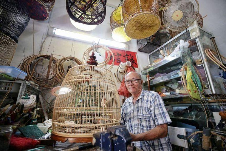 Mr Chee also met birdcage-maker Teng Leng Foo, 72.