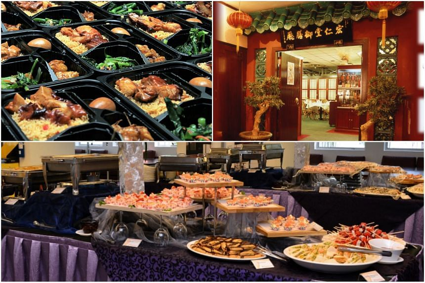 """(Clockwise from top left) Foodtalks Caterer and Manufacturer, Imperial Herbal restaurant and The Orange Lantern Gourmet Kitchen had their food hygiene grades lowered to a """"C""""."""