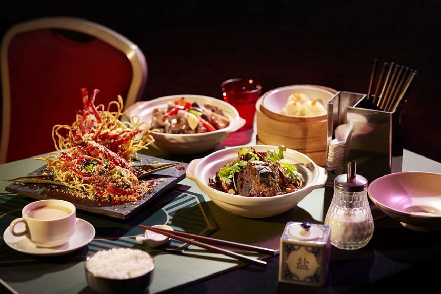 """Dishes from the Old School Hong Kong Delights promotion include Baby Lobster in """"Bi Feng Tang"""" Style (far left)."""