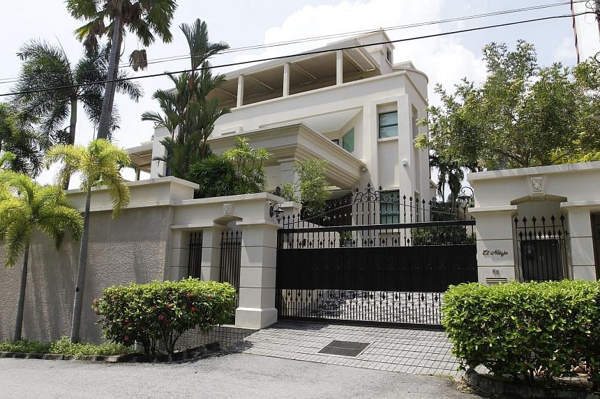 The three-storey house in Tanjung Bungah Park, owned by Jho Low's mother, was seized by the police last Thursday.