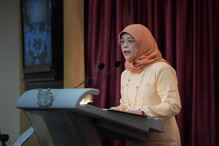 """""""The most important lesson is that we must fight all forms of xenophobia and hatred perpetrated simply on the basis of a person's religion, colour or creed,"""" says President Halimah Yacob."""