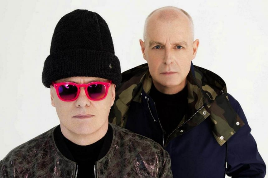 Chris Lowe (left) and Neil Tennant of The Pet Shop Boys. The duo will be back in Singapore to perform at The Star Theatre on March 26.