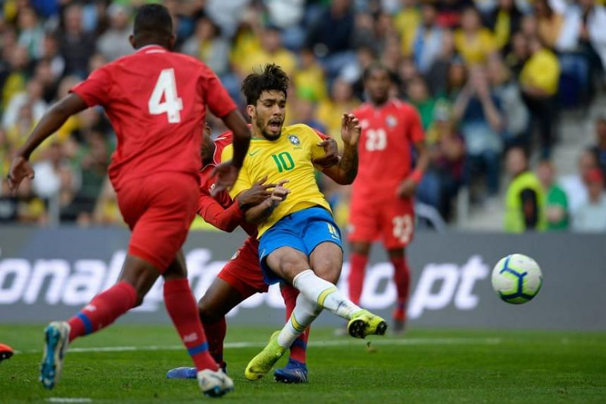 Midfielder Lucas Paqueta gave Brazil the lead after 31 minutes, but Adolfo Machado equalised four minutes later with a looping header from what looked like an offside position.