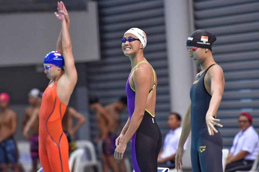 Swimmer Quah Ting Wen, representing Swimfast Aquatic Club, set a national record while winning the women's 50m freestyle on March 24, 2019.