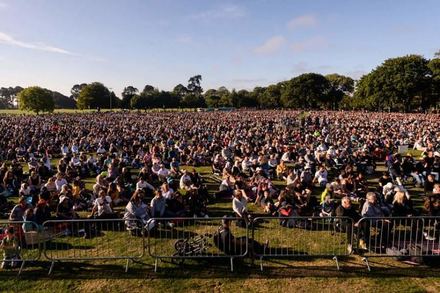 People attend a vigil in memory of the twin mosque massacre victims in Christchurch on March 24, 2019.