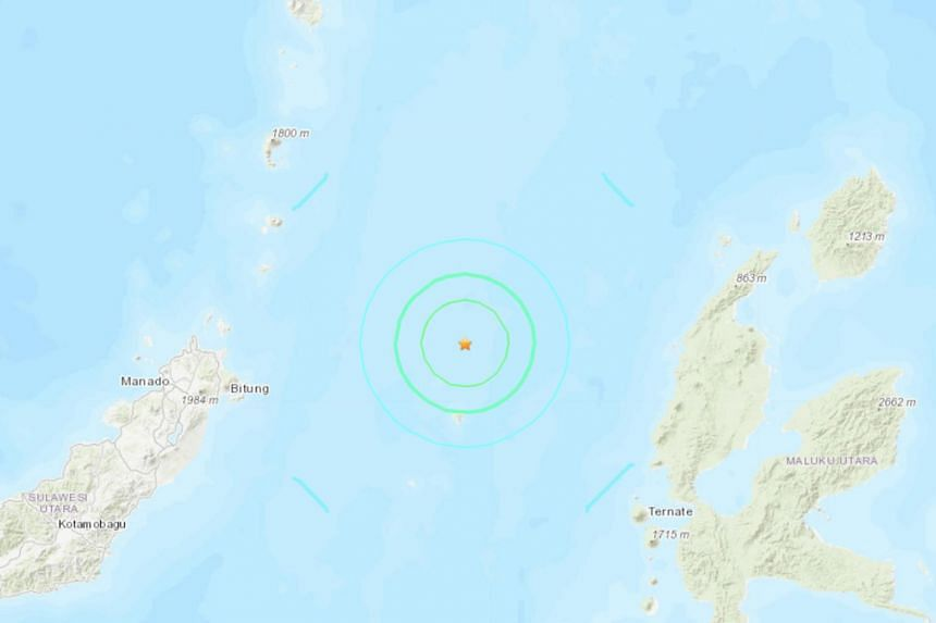 The quake was 150km north-west of the coastal town of Ternate at a depth of 37km, according to the US Geological Survey.
