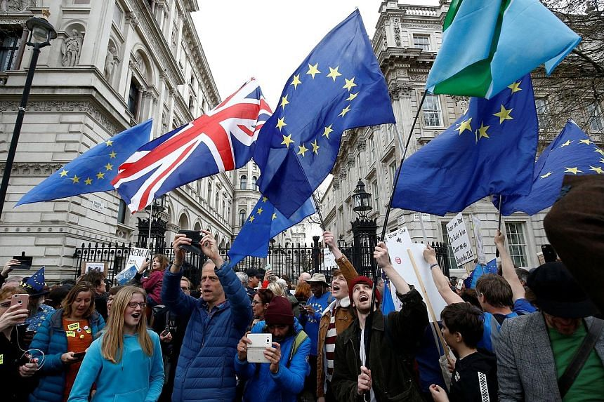 The People's Vote march in central London on Saturday, in which EU supporters called for the government to give Britons a vote on the final Brexit deal.