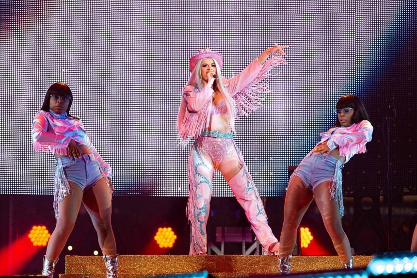 Rapper Cardi B performs at RodeoHouston in Texas on March 1, 2019.