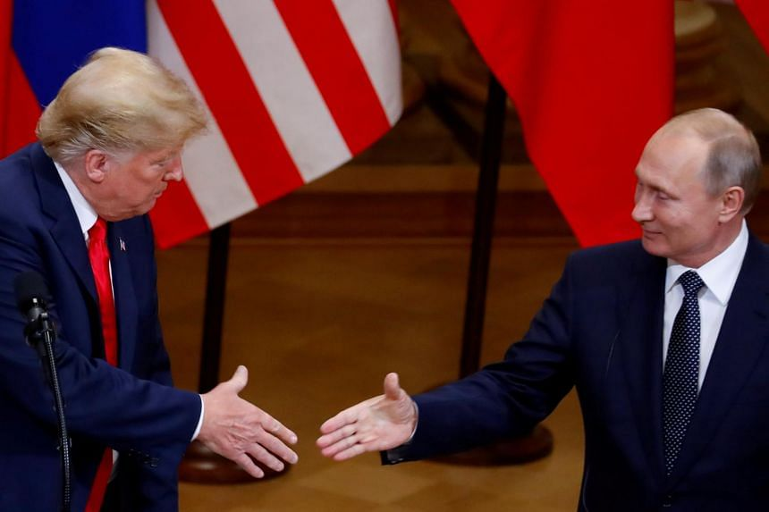 US President Donald Trump (left) pledged during his campaign to improve ties with Russia and has repeatedly said he wants good relations with Russian President Vladimir Putin.