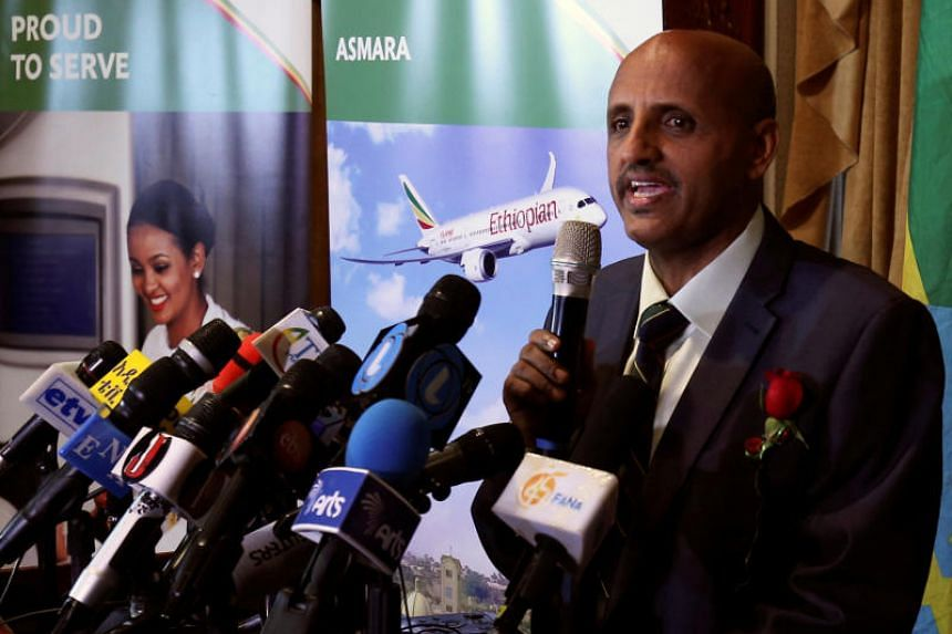 """Mr Tewolde GebreMariam told The Wall Street Journal an automatic anti-stalling system specific to the Boeing 737 Max 8 aircraft was """"to the best of our knowledge"""" activated on the fatal March 10 crash of Flight ET 302 minutes into its journey to Nair"""