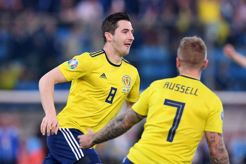 Kenny McLean's glancing header put the Scots ahead after four minutes, but it was not until the 74th minute that Johnny Russell made the points safe with a powerful finish.