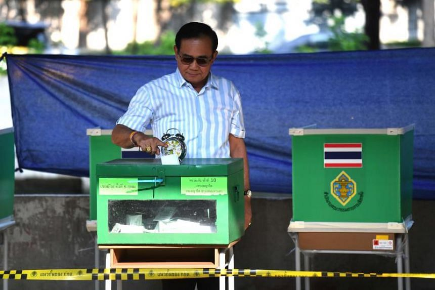 With 93 per cent of overall votes counted, the Election Commission reported the pro-military party Palang Pracharat, which is seeking to keep Thai Prime Minister Prayut Chan-o-cha in power, was leading with 7.59 million votes.