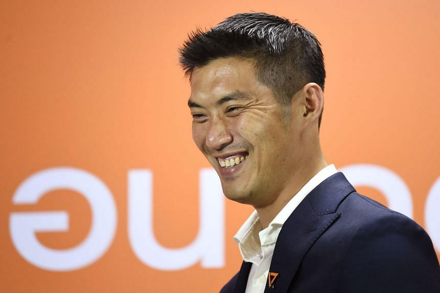 Future Forward Party leader Thanathorn Juangroongruangkit smiles during a press conference in Bangkok on March 25, 2019.