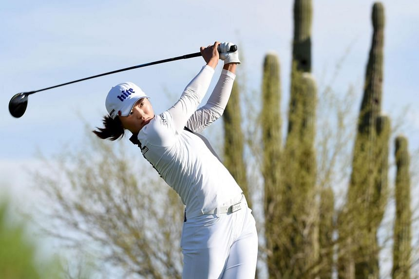 South Korea's Ko Jin-young on the 13th hole during the final round of the Bank Of Hope Founders Cup at the Wildfire Golf Club on March 24, 2019,