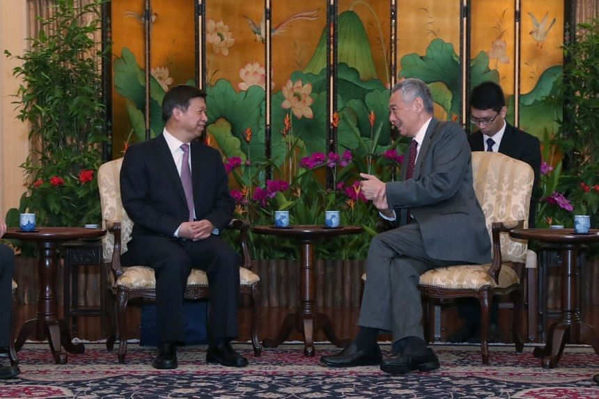Chinese Communist Party's Minister of the International Department Song Tao called on Prime Minister Lee Hsien Loong at the Istana on March 25, 2019.