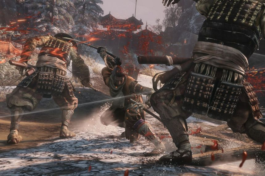 Play as a ninja with a versatile prosthetic arm in Sekiro: Shadows Die Twice. PHOTO: FROMSOFTWARE, INC